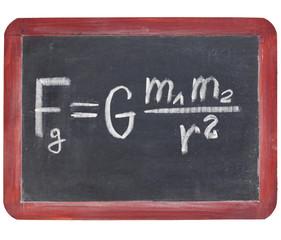 Newton gravity law