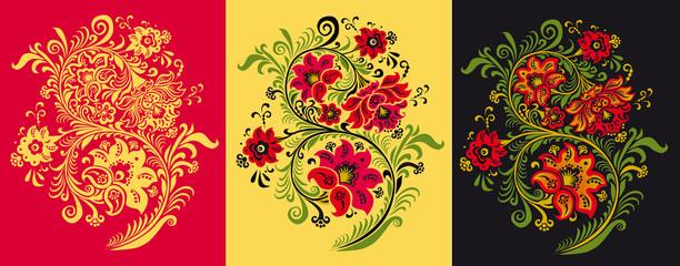 Pattern in style hohloma national creativity