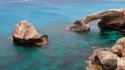 Sea caves  Cape Greco area in Cyprus