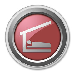 """Red 3D Style Button """"Sleeping Shelter"""""""