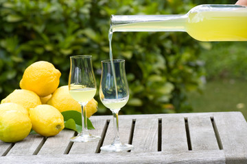Limoncello to pour in a glass