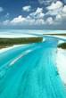 The Bahamas from the sky, an island paradise.