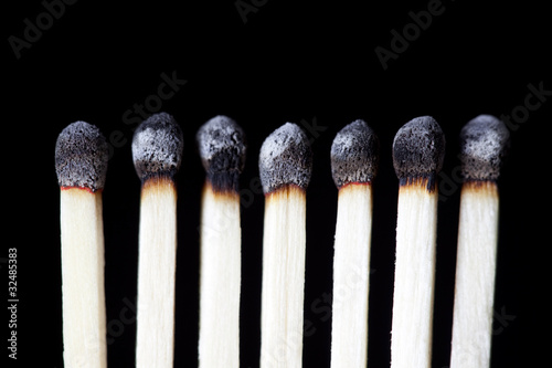 Burnt Matches, concept photography