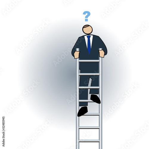 Business symbol-end of the ladder