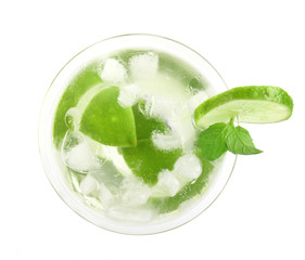 Mojito drink, top view