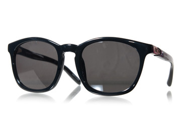 Black sunglasses isolated on white
