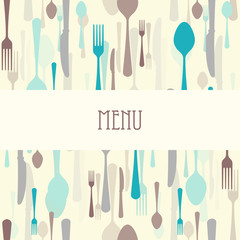 Dining menu with plate