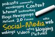 Tafel mit Social Media