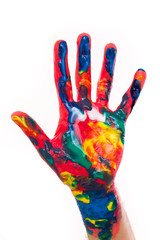 idee einfall hands color