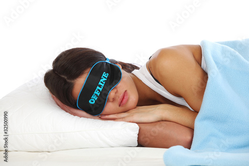 offline sleeping woman