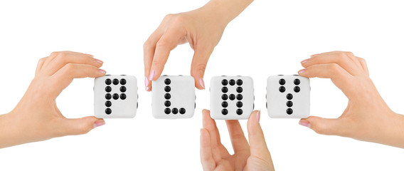 Hands and dices Play