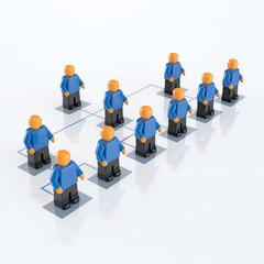 Unternehmensstruktur - Schema