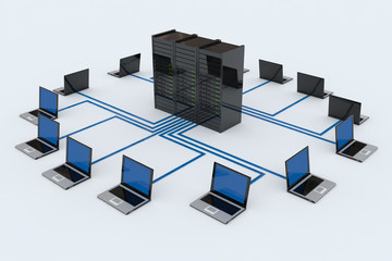 Computer Network with server