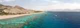 Fototapety Panorama coastline of Red sea from coral reef