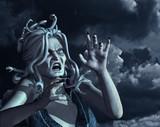 Stormy Medusa - 3d render poster