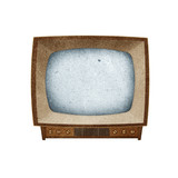 Television ( TV ) icon recycled paper craft. poster