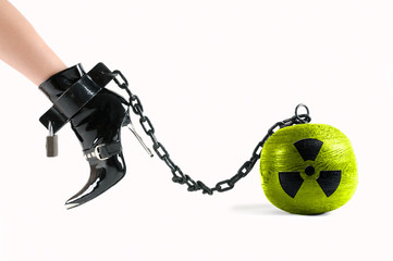symbol for nuclear energy on the prison ball