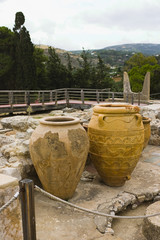 Excavation of the Knossos palace in Iraklione