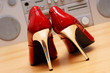 rote pumps high heels