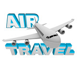Air Travel - Airplane Flight for Vacation or Business poster