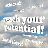 Reach Your Potential - Words of Encouragement poster
