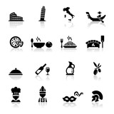 Fototapety Icons set Italian Cuisine and culture