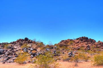Volcanic desert rock