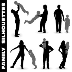 Silhouette Happy Family