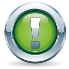 Ausrufezeichen - Button grün