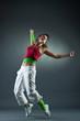 Teenage girl dancing hip-hop