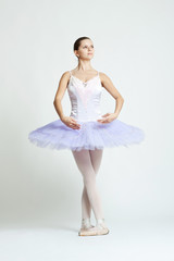 Professional ballet dancer isolated