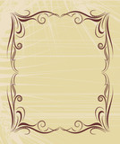 classic decorative filigree frame for text poster