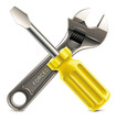 Vector wrench and screwdriver XXL icon