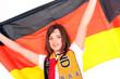 Mädchen mit Deutschlandfahne