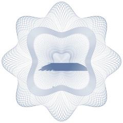 Rosette - Guilloche, Zertifikate, Dekoration, Muster, Rosetta