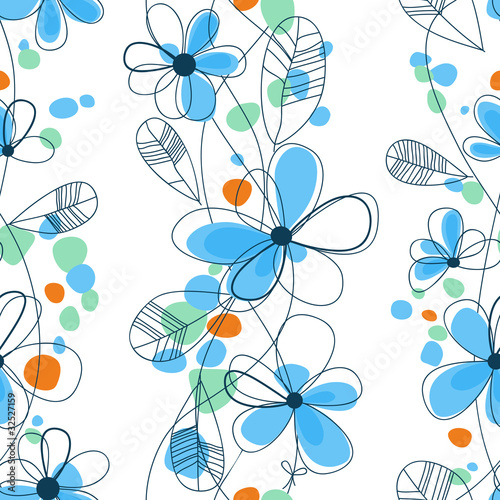 Tuinposter Abstract bloemen Vector floral seamless pattern
