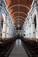 Pasillo y cupula de la catedral de Santa Cruz