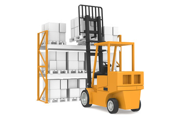 Last Pallet.  Part Of Warehouse and Logistics Series.