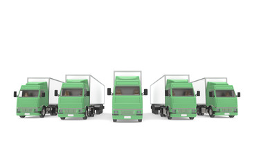 Trucks Green. Part of Warehouse and Logistics Series.