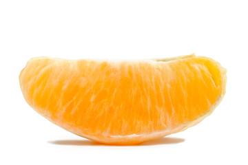 Orange Section Isolated on White Background
