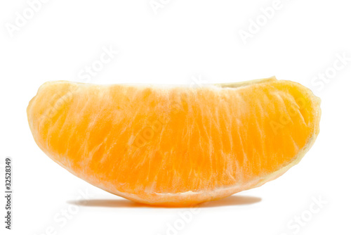 Orange Section Isolated on White Background