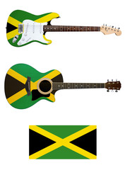 jamaica acoustic and electric guitar
