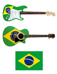 brasil electric and acoustic guitars