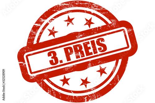 Sternen Stempel rot 3. PREIS