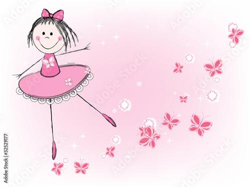 Fototapeta ballet girl