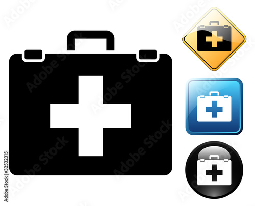 First aid pictogram and signs