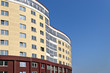Belorussian construction site of a new high comfort building and