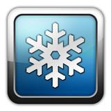 "Glossy Square Icon ""Winter Recreation"""