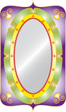 Decorative oval with mirror isolated classic frame. poster