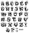 Doodle monster alphabet for Halloween or other events